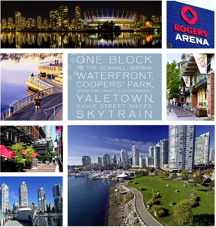 Downtown Vancouver One Pacific presale condos feature an amazing location in the heart of the city.
