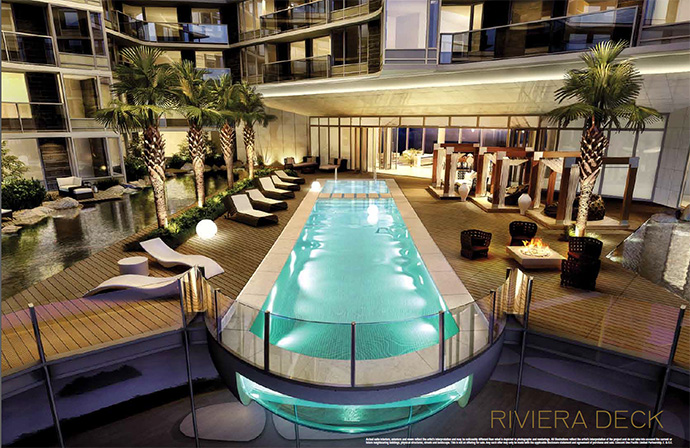 Five star amenities at One Pacific Club One Riviera Deck Spa and Entertainment Centre.
