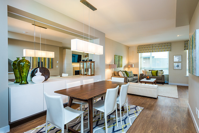 Dining rooms at one44 Panorama real estate development.