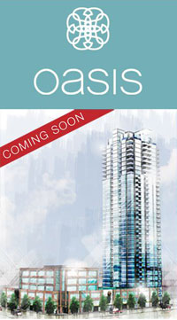 The new Onni Oasis Coquitlam condo high-rise.