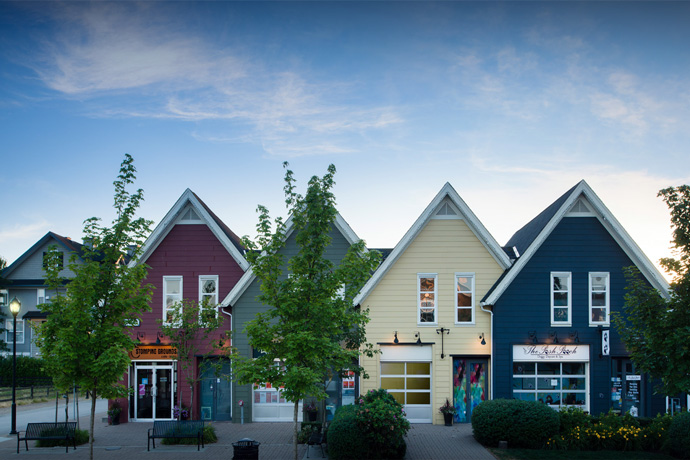 New Pitt Meadows Osprey Village storefronts for sale.
