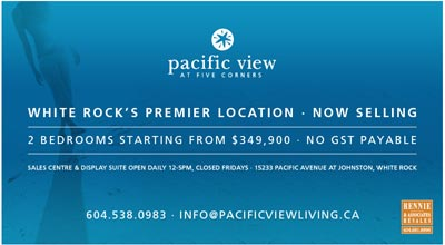 The pre-construction Pacific View at Five Corners condos are refurbished and renovated condominium suites in the White Rock real estate market.  There is no GST payable by the homebuyer.