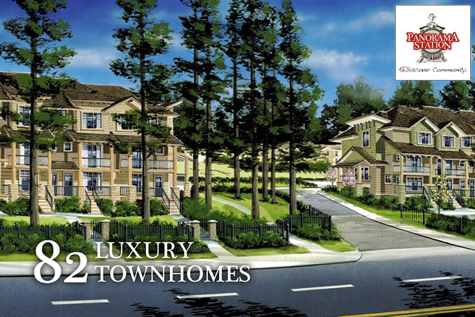 New Surrey Panorama Station townhouses for sale by Dreamstar Living.