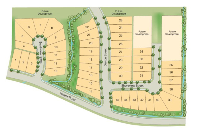 Burke Mountain Partington home site map.