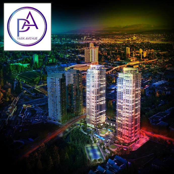 Park Avenue Surrey City Centre condo development by Concord Pacific.