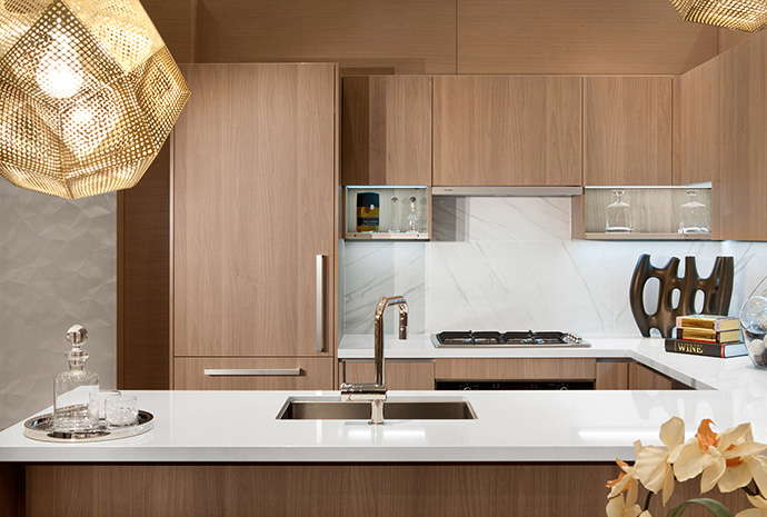 Another kitchen rendering at the City Centre Surrey Park Avenue condominium tower.