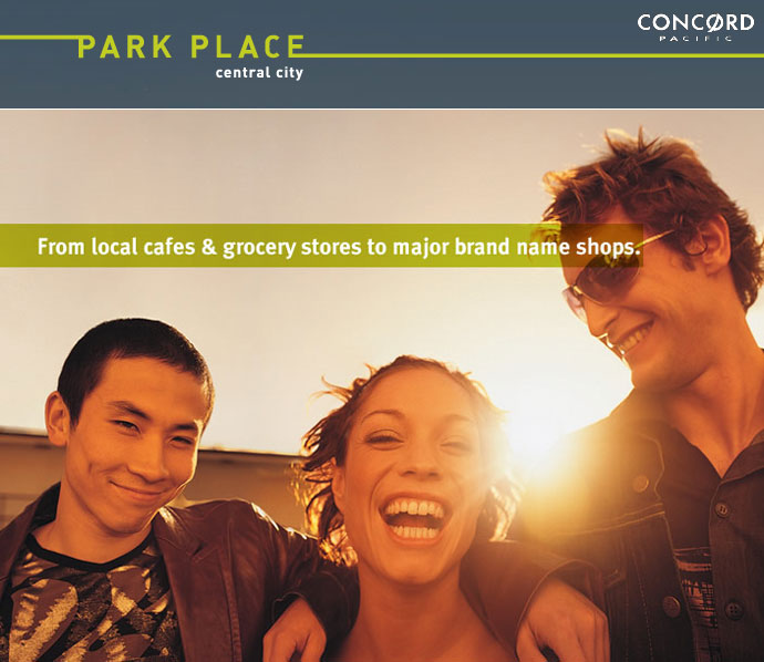 The Concord Pacific Park Place Surrey Central City condo development.
