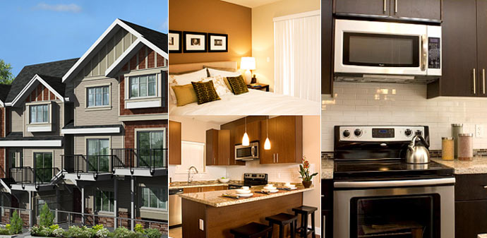Beautifully finished interiors at the pre-construction Burnaby Parkside Greene townhomes are now being featured online on their marketing site.