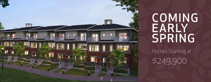 The Affordable Parkside New West Town Homes rendering