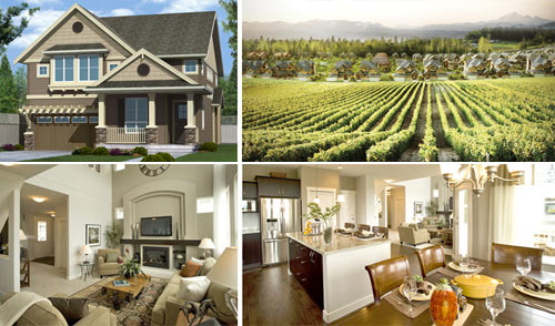 Beautiful single family Abbotsford homes for sale are located on the Bradner Pepin Brook Estate Winery grounds.