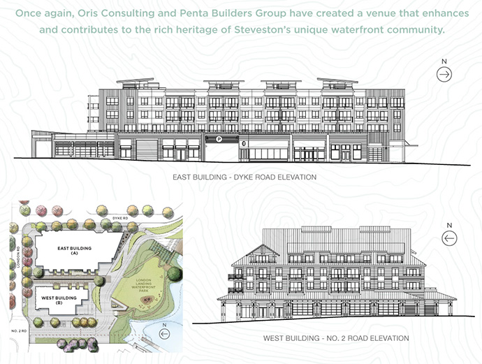Rendering at the presale Richmond Pier London Landing condos by ORIS Consultants.