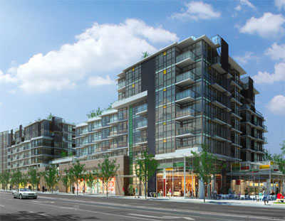 The presale boutique Kits condos here at Vancouver Pinnacle Living feature spacious floor plans and high-end interiors.