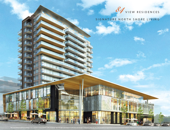 New entrance rendering of The Prescott at 13th and Lonsdale Avenue.