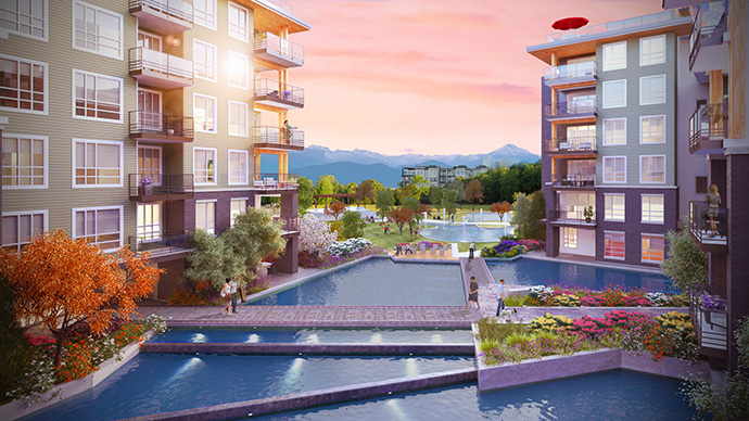 Preconstruction Vancouver PRODIGY at Wesbrook Village UBC apartments for sale.