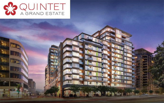 The presales Richmond Quintet condos and townhomes project.