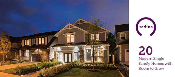 Hayer Lifestyle Design Series of new homes at RADIUS Langley.