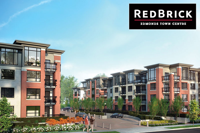 Amacon RedBrick Edmonds Town Centre apartments for sale.