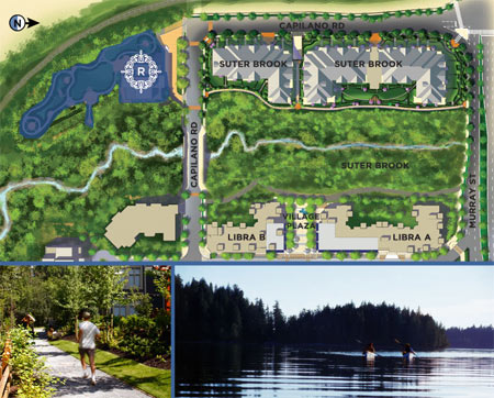 The Residences Club at Suter Brook Port Moody project features five star amenities and luxurious clubhouse
