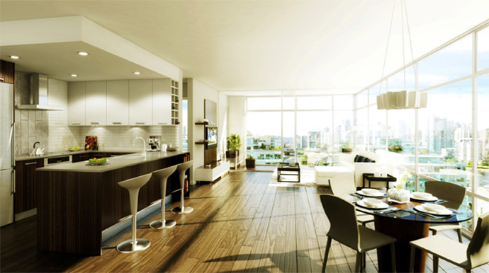 Atmosphere Interiors design is designing the homes at the WEST False Creek Vancouver condos for sale