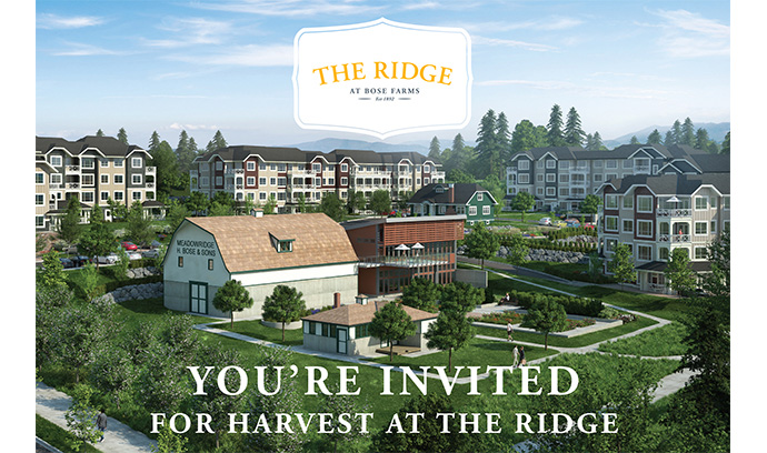 Harvest at the Ridge Surrey Bose Farm condo celebration.