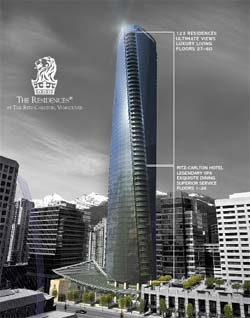 The Residences at Ritz Carlton Vancouver is a new condominium luxury high-rise condo tower in the heart of downtown.
