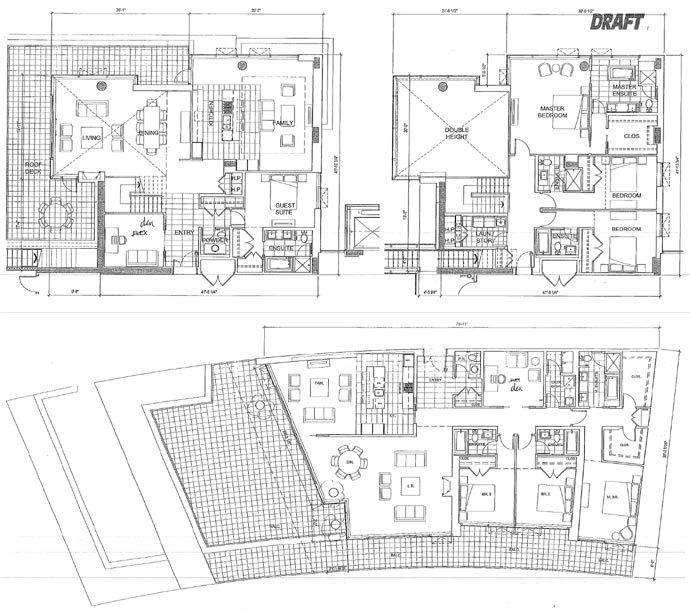 Draft River Green floor plans and layouts.