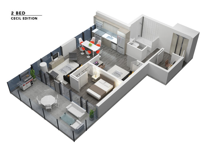 The downtown Vancouver Rolston Floor Plans.