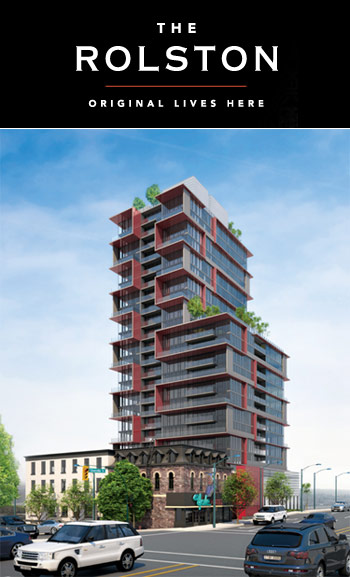 Rebirth of Midtown Vancouver Rolston Condo Tower presenting boutique downtown Yaletown condominiums for sale.