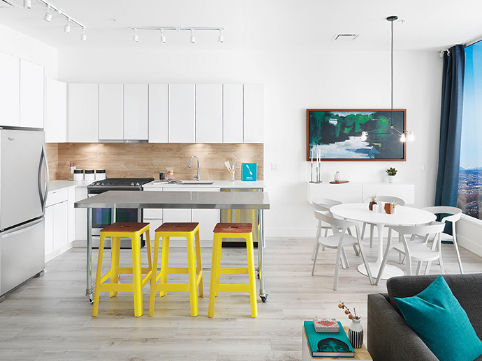 Open concept and expansive kitchens at the New Westminster Sapperton condos.