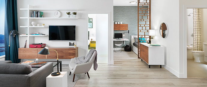 Beautiful interiors for the suites at The Sapperton New West condos by Wesgroup.