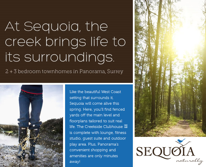 Boutique Surrey townhomes at Sequoia by Fairborne Homes