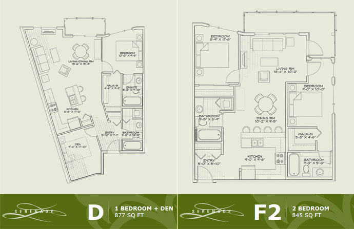 Langley condo floor plans for your review.