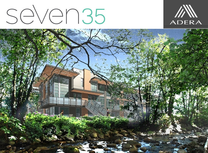 Adera seven35 North Vancouver townhomes & condos are the ultimate BuiltGreen & LEED Platinum Certified condos in Canada and the North Shore real estate market.