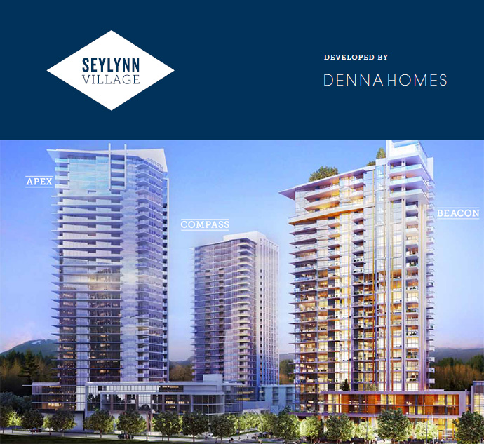 Masterplanned North Vancouver Seylynn Village condo project by Denna Homes is underway.