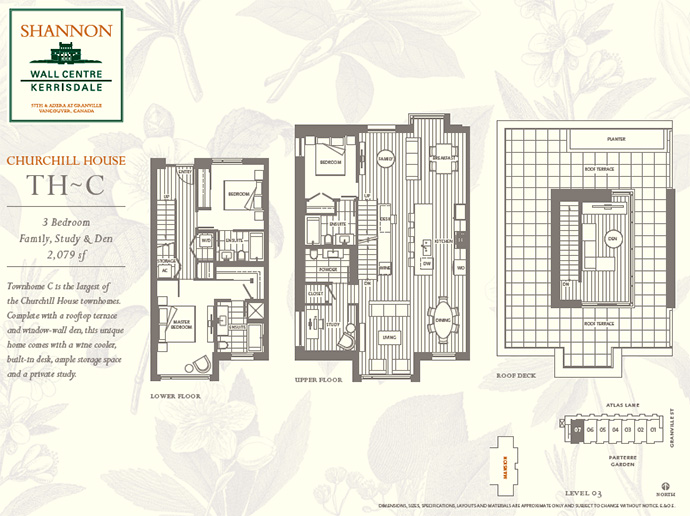 Vancouver Shannon floor plan.