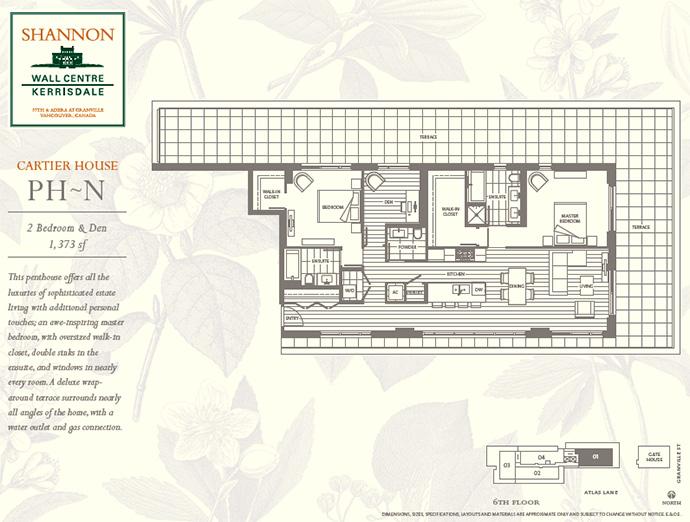 Westside Vancouver Shannon Kerrisdale Penthouse floorplan.