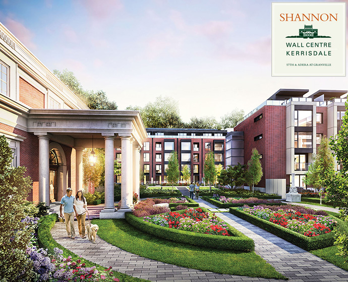 Render of the presale Vancouver Shannon Wall Centre Kerrisdale Vancouver Westside real estate development by Wall Financial Corporation.