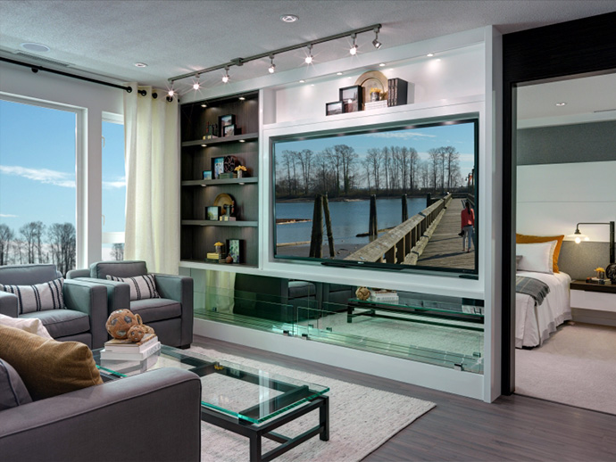 Incredible living space at the new Phsae 2 River District riverside apartments at Polygon Shoreline East Condos.