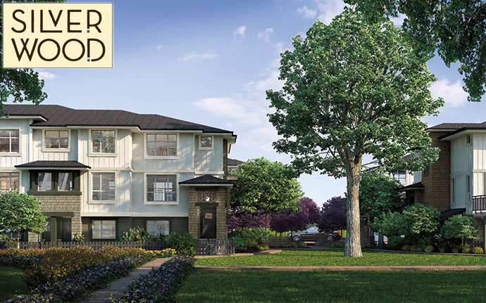New rendering at the Fairborne Silverwood Surrey townhouse project.