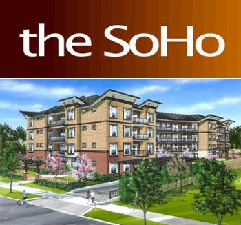 The boutique yet affordable Surrey condos for sale at The SoHo by Blexo Developments is now selling.