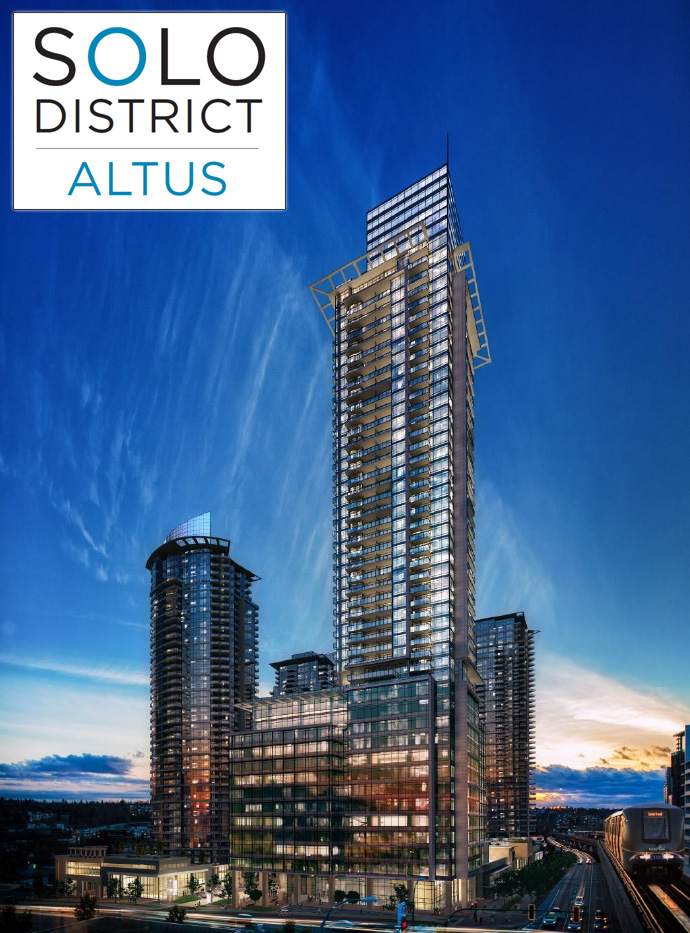 SOLO 2 Altus Burnaby condo VIP presales on now!