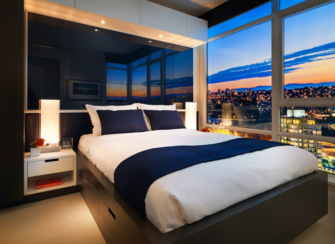The bedrooms at the SOLO District Burnaby STRATUS Condos for sale.