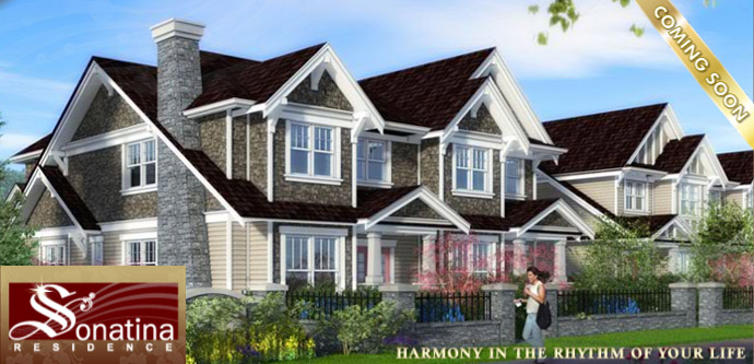 West Coast craftsman style architecture presented at the Sonatina Residences in Sunneymede Richmond real estate market.