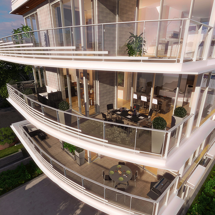 Rendering of the Birch & 14th Vancouver Westside condos for sale at SOTA Living.