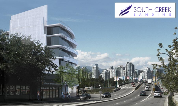 Luxury Vancouver Condos for Sale at the South Creek Landing False Creek condo building.