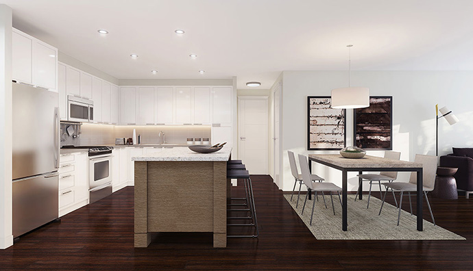 Interior finishes at the presale Surrey South Point Walk Townhouses.