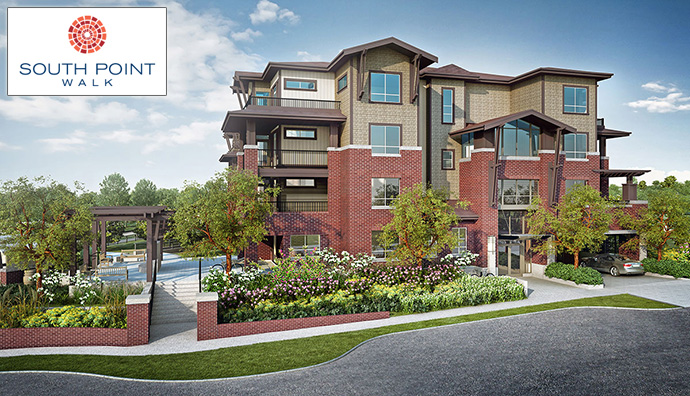 South Point Walk Surrey townhome project by Streetside Qualico.