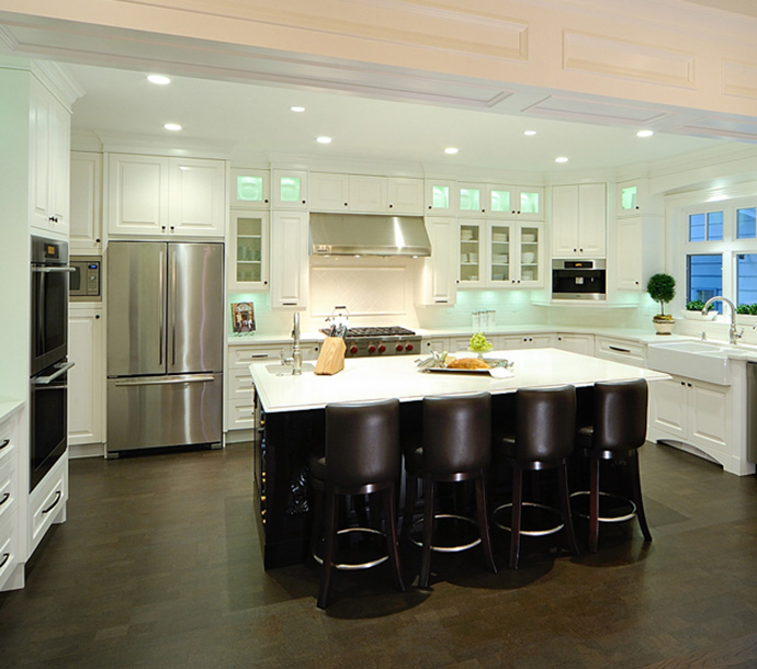 Beautiful family style kitchens at Southbrooke Surrey houses.