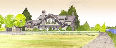 Rendering of a single family detached home in the Southlands Shores real estate purchase opportunity