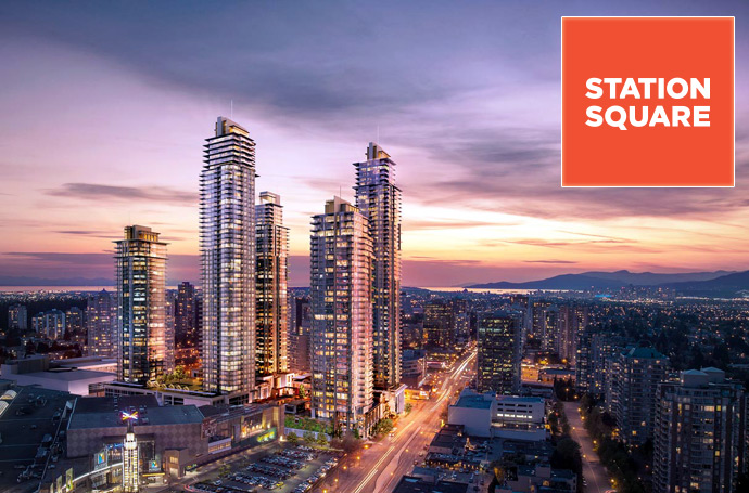 The Presale Burnaby Station Square Metrotown real estate development.